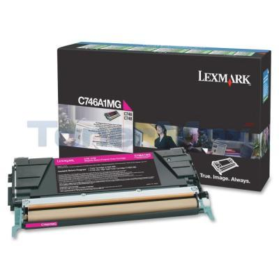 LEXMARK C746 TONER CARTRIDGE MAGENTA RP